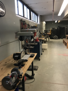 power tools in a shop